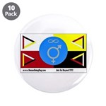 "Humanbeingflag 3.5"" Button (10 pack)"