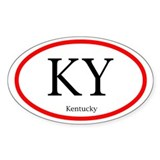 Kentucky Oval Decal (Sticker)