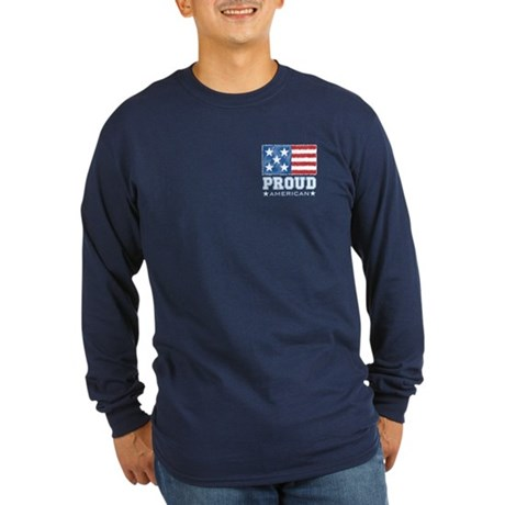 Proud American Long Sleeve Dark T-Shirt