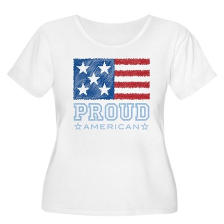 Proud American Women's Plus Size Scoop Neck T-Shir