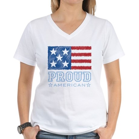 Proud American Women's V-Neck T-Shirt