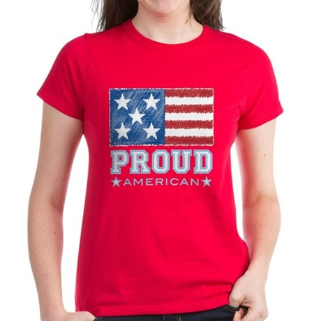 Proud American Women's Dark T-Shirt