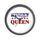 KINSEY for queen Wall Clock