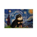 Starry Night / Pomeranian(b&t) Rectangle Magnet (1