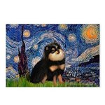 Starry Night / Pomeranian(b&t) Postcards (Package