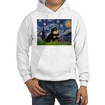 Starry Night / Pomeranian(b&t) Hooded Sweatshirt