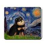 Starry Night / Pomeranian(b&t) Mousepad