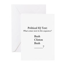 """Political IQ Test"" Greeting Cards (Pk of 20)"