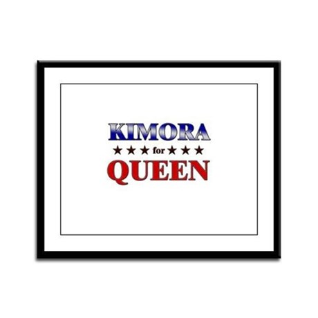 KIMORA for queen Framed Panel Print