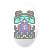 Sun Beaver Oval Decal