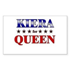 KIERA for queen Rectangle Decal