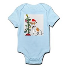 Jack Russell Christmas Infant Creeper