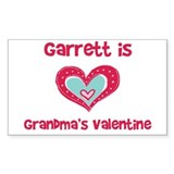 Garrett is Grandma's Valentin Sticker (Rectangular