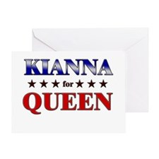 KIANNA for queen Greeting Card