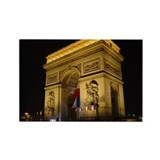 Arc de Triumph at night Rectangle Magnet