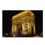 Arc de Triumph at night Postcards (Package of 8)