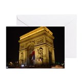 Arc de Triumph at night Greeting Cards (Package of
