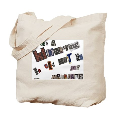 Runaway Bride/Divorce Tote Bag