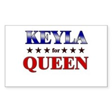 KEYLA for queen Rectangle Decal