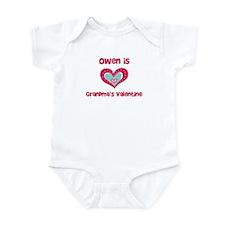 Owen is Grandma's Valentine Infant Bodysuit
