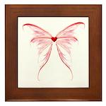 winged heart Framed Tile