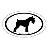 Miniature Schnauzer (inner border) Oval Decal