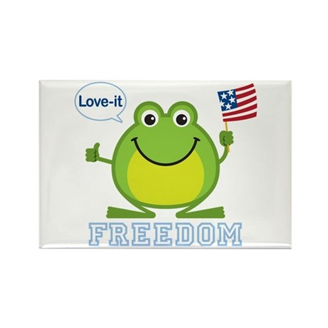 Freedom Frog: Rectangle Magnet (100 pack)