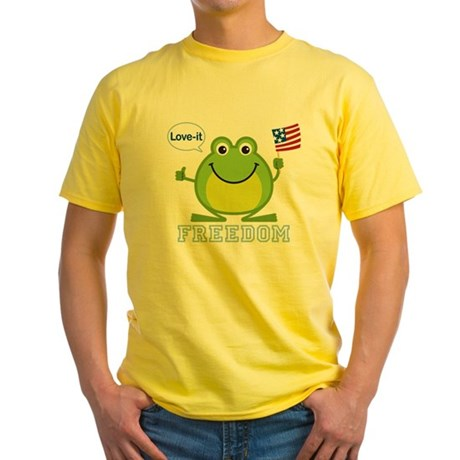 Freedom Frog: Yellow T-Shirt