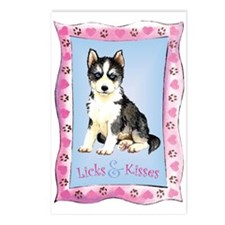 Husky Valentine Postcards (Package of 8)