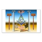 Masonic Rectangle Sticker
