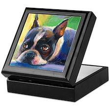 Boston Terrier Dog #11 Keepsake Box