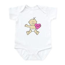 """1st valentine pink"" Infant Bodysuit"