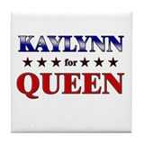 KAYLYNN for queen Tile Coaster