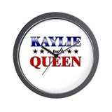 KAYLIE for queen Wall Clock