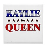 KAYLIE for queen Tile Coaster