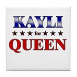KAYLI for queen Tile Coaster