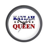 KAYLAH for queen Wall Clock