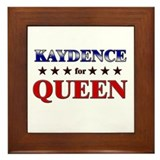KAYDENCE for queen Framed Tile