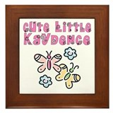 Cute Little Kaydence Framed Tile