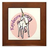 Kaydence Unicorn Framed Tile