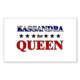 KASSANDRA for queen Rectangle Decal
