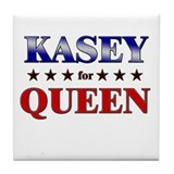 KASEY for queen Tile Coaster
