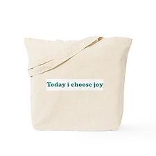 Today i choose joy (blue) Tote Bag