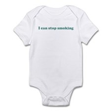 I can stop smoking (blue) Infant Bodysuit