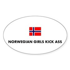 Norwegian Girls Oval Decal