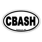Calabash, North Carolina CBASH Oval Sticker