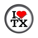 I Love Texas - Wall Clock