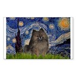 Starry Night /Pomeranian(bndl ) Sticker (Rectangle