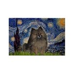 Starry Night /Pomeranian(bndl ) Rectangle Magnet