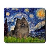 Starry Night /Pomeranian(bndl ) Mousepad
